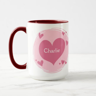 Your Name(s) in a Heart mug