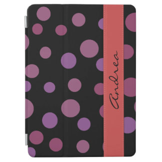 Your Name - Seamless Dots, Dotted Pattern - Purple iPad Air Cover