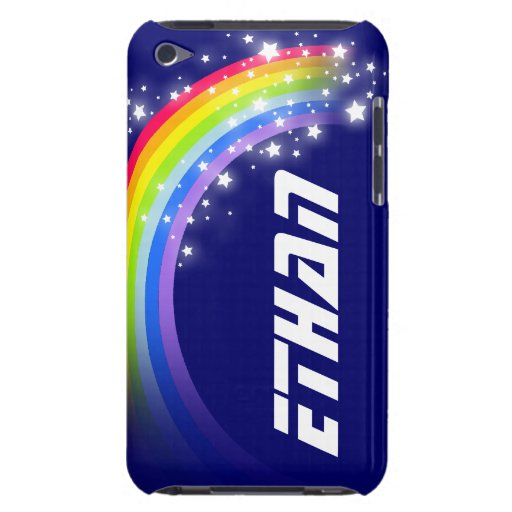 Your name short rainbow navy blue ipod case iPod touch cases