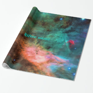 Your Name, Swan Nebula, Alien Fish Space Pictures Wrapping Paper