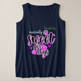 (Your Name) Sweet for days Plus Size Tank Top