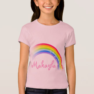 """Your name"" (up to 7 letters) rainbow pink top"