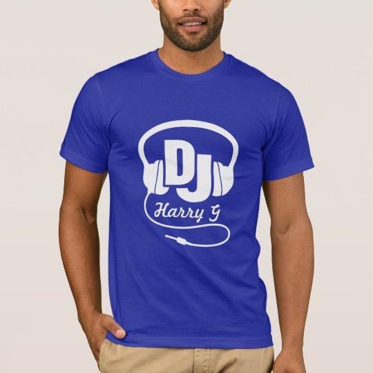 Your name white DJ headphones T-Shirt