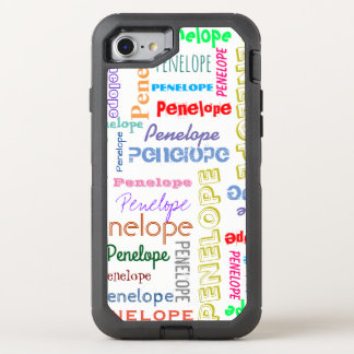 Your Name Word Cloud Fun Fonts Typography OtterBox Defender iPhone 8/7 Case