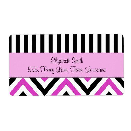 Your Name - Zigzag Pattern, Chevron - Black Pink