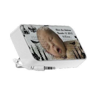 Your New Baby Photo Vintage Birds Black Chandelier iPod Speaker