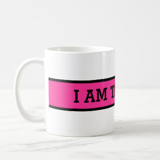 Your nice saying: I AM THE BOSS Basic White Mug