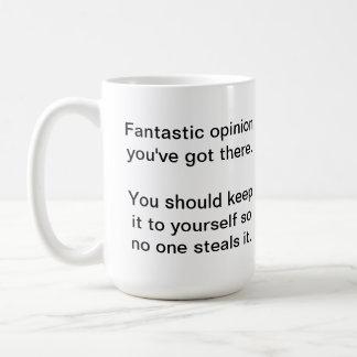 Your Opinion Basic White Mug