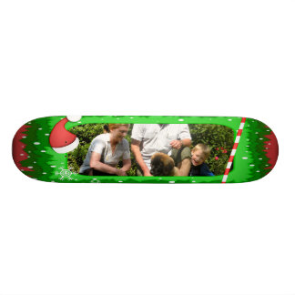 Your own photo in a Christmas frame - Skateboards