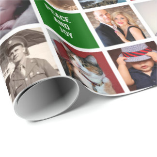Your Own Photos | Custom 51-Image Collage Gift Wrapping Paper