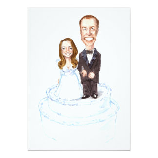 "Your Personalized Kate/William Wedding Invitation 5"" X 7"" Invitation Card"