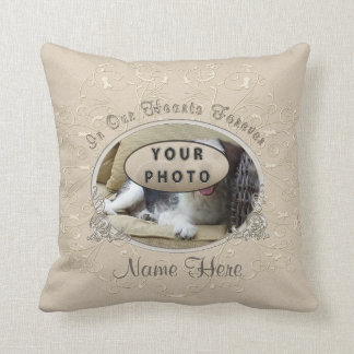 Your Pet Photo and Name Gifts for Loss of a Pet Cushion