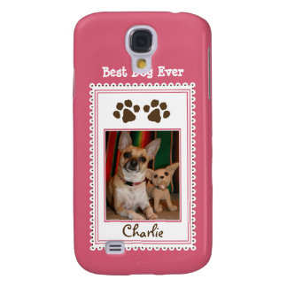 Your Pet's Photo Custom 3G (pink) Galaxy S4 Case