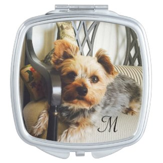 Your photo and Monogram Compact Mirror