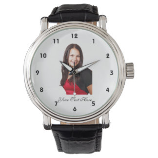 Your Photo and Text - Custom Watch