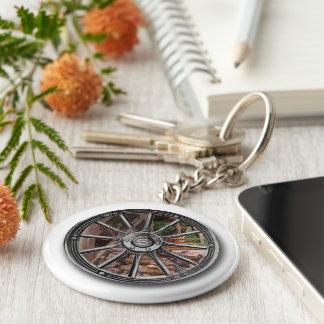 Your photo art wheel key ring