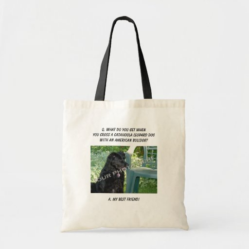 Your Photo! Best Friend Catahoula Leopard Dog Mix Canvas Bags