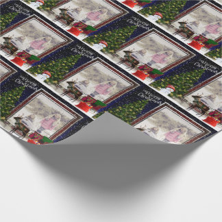 Your photo Christmas Frame Scene Wrapping Paper