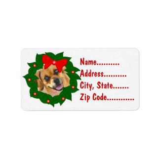 Your Photo Christmas Wreath Return Address Labels