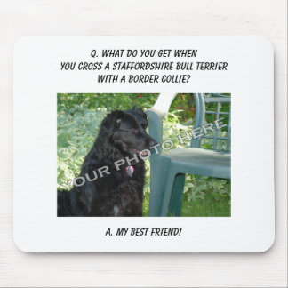 Your Photo Friend Staffordshire Bull Terrier Mix Mouse Pads