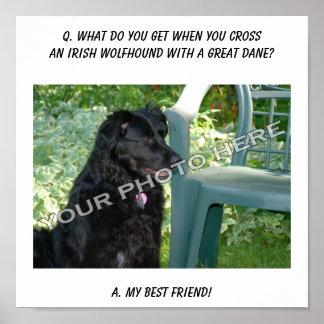 Your Photo Here! Best Friend Irish Wolfhound Mix Print