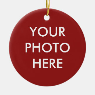 """YOUR PHOTO HERE"" customizable Christmas Ornament"