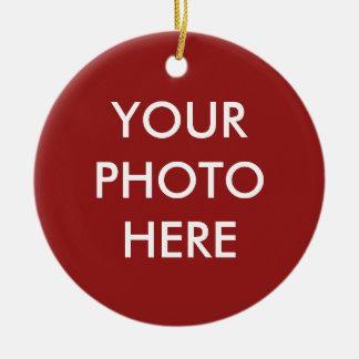 """YOUR PHOTO HERE"" customizable Round Ceramic Decoration"