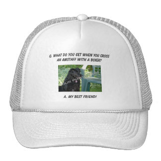 Your Photo Here My Best Friend AmStaff Mix Mesh Hats