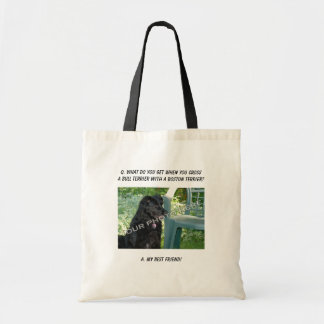 Your Photo Here My Best Friend Bull Terrier Mix Canvas Bags