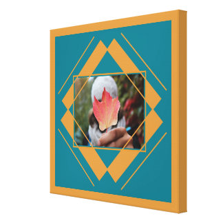 YOUR PHOTO in Geometric Pattern canvas print