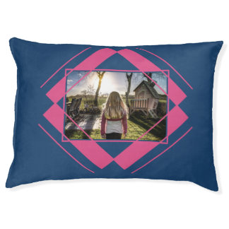 YOUR PHOTO in Geometric Pattern dog beds