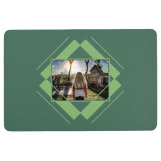 YOUR PHOTO in Geometric Pattern floor mat