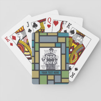 YOUR PHOTO in Geometric Pattern playing cards