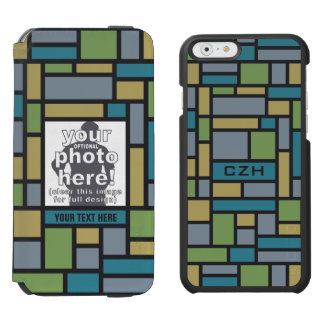 YOUR PHOTO in Geometric Pattern wallet cases Incipio Watson™ iPhone 6 Wallet Case