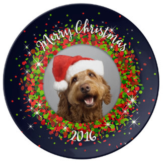 Your Photo Merry Christmas Plate