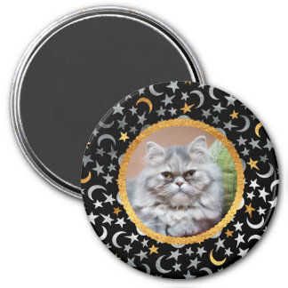 Your Photo Moon & Stars 7.5 Cm Round Magnet