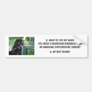Your Photo! My Best Friend Rhodesian Ridgeback Mix Bumper Sticker