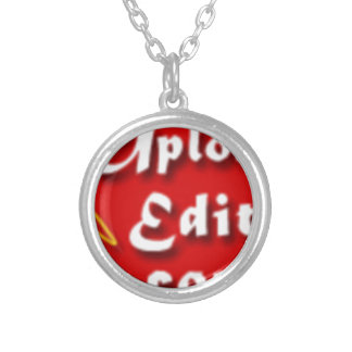 Your Photo On A Special Print Product Round Pendant Necklace