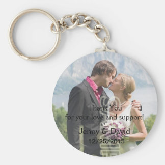 Your Photo Personalized Key Ring Wedding Favor Basic Round Button Key Ring