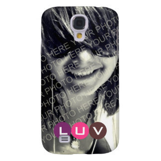 Your photo pink purple mod dots monogram letter galaxy s4 case