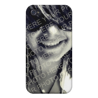 Your photo pink teal 3 mod dots monogram letter iPhone 4/4S cover