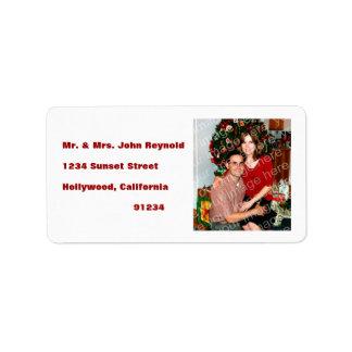 Your Photo Return Address Labels