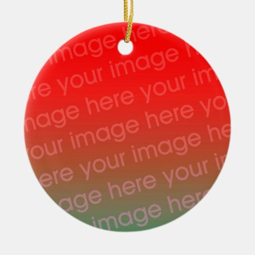 Your Photo Round Christmas Ornament Template