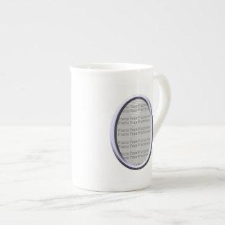Your Photo Silver  Frame Design Bone China Mug
