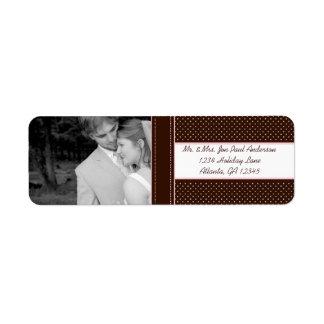 Your Photo Wedding Deep Brown & Pink Dots