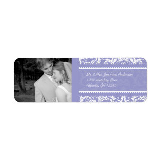 Your Photo Wedding Vintage Lilac Damask