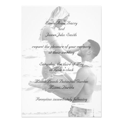 Your Photograph on Wedding Invitations