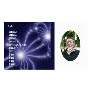 Your Photograph with Fractal Artwork Card Business Cards