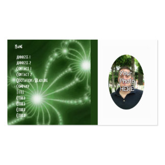 Your Photograph with Fractal Artwork Card Business Card Templates