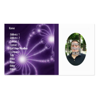 Your Photograph with Fractal Artwork Card Pack Of Standard Business Cards